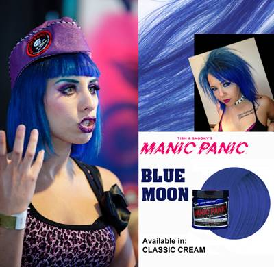 tinte fantasía para pelo azul manic panic blue moon