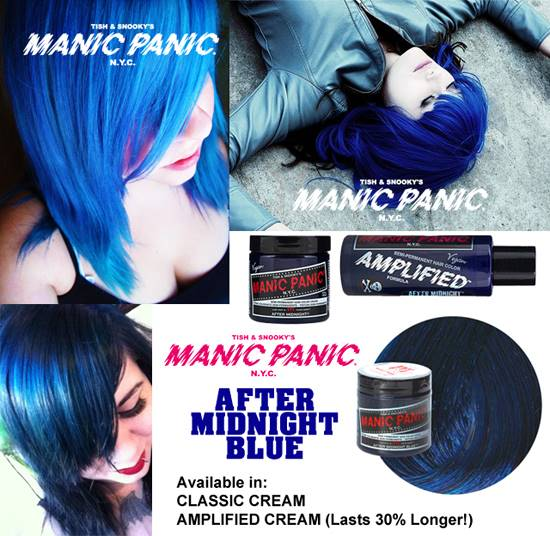 tinte fantasía de pelo azul manic panic after midnight