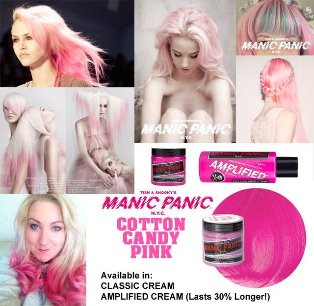 tinte fantasía para pelo color rosa manic panic cotton candy pink