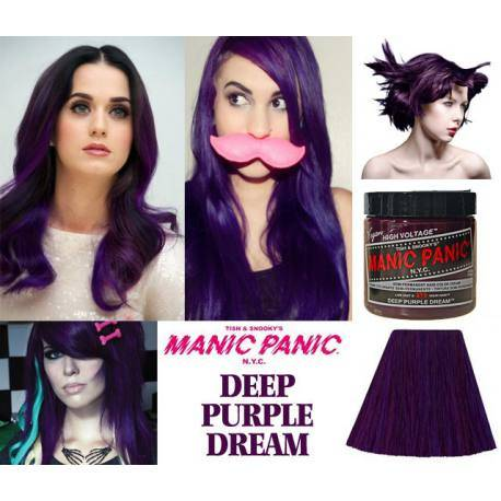 tinte fantasía de pelo morado manic panic deep purple dream