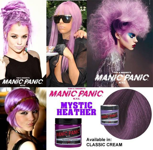 tinte de pelo color violeta manic panic mystic heather