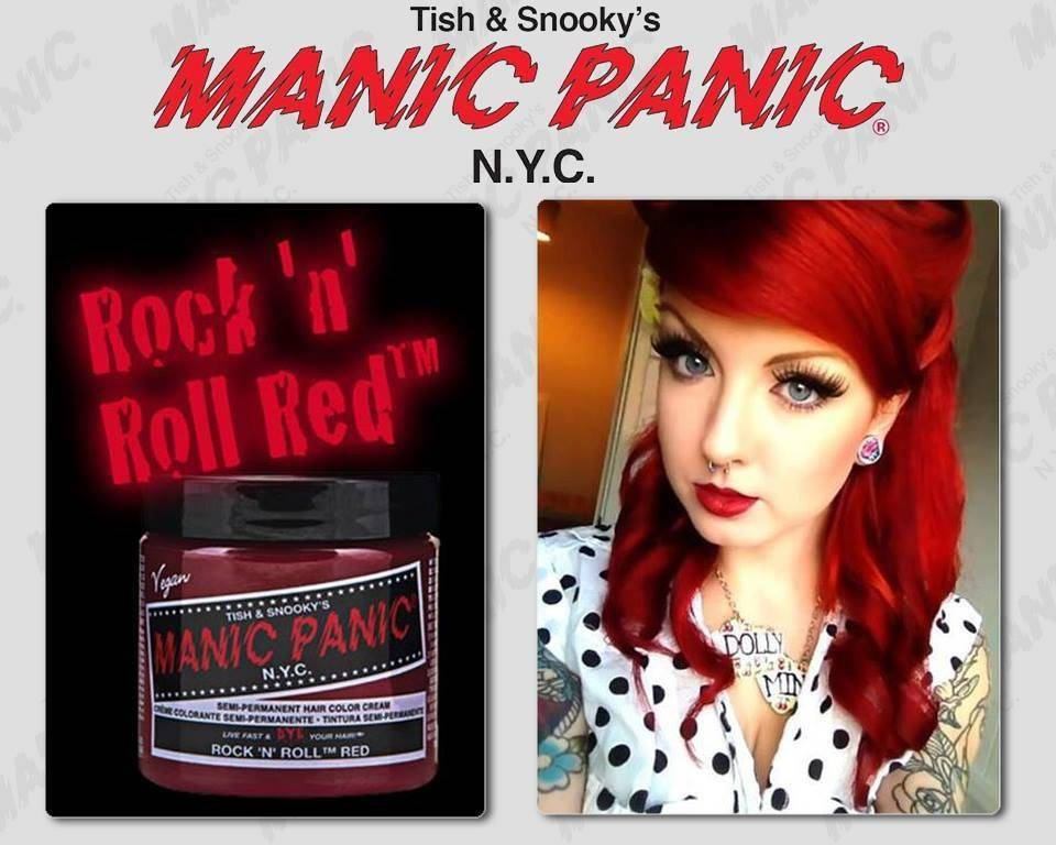 tinte fantasia para pelo rojo manic panic rock and roll red